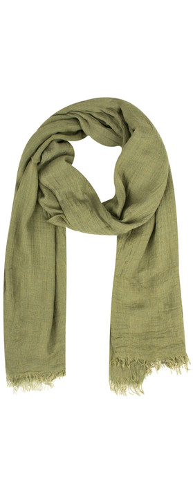 Sandwich Clothing Crinkle Effect Woven Scarf Sage Green