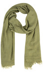 Sandwich Clothing Sage Green Crinkle Effect Woven Scarf