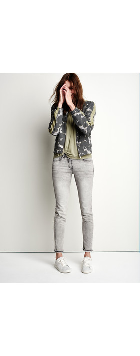 Sandwich Clothing Floral Bomber Jacket Grey Magnet