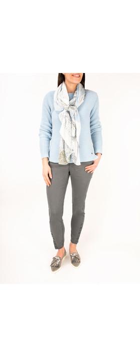 Sandwich Clothing Stretch Twill Slim Fit Trouser Grey Magnet