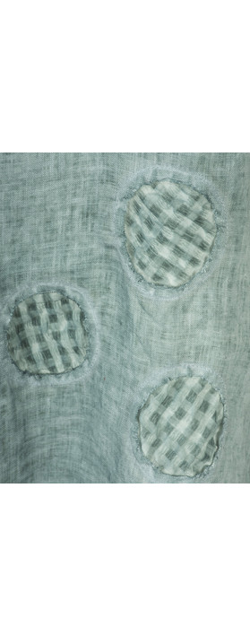 Grizas Oliato Spot Linen Top 328 Blue Grey