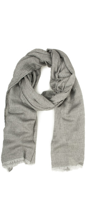 Sandwich Clothing Woven Wool Mix Scarf Grey Magnet