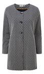 Adini Navy Brompton Weave Onslow Coat