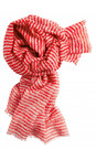 Sandwich Clothing True Red Silk & Wool Mix Stripe Scarf