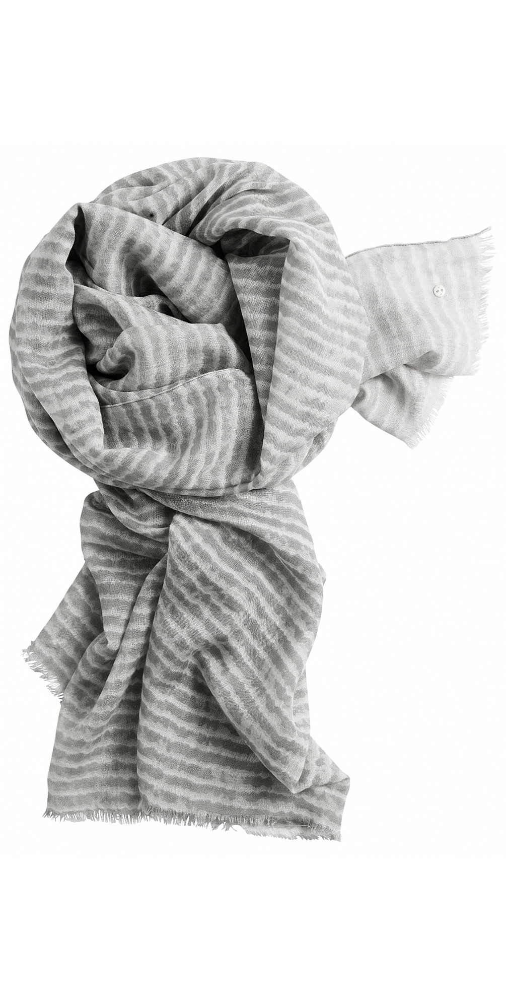 Silk & Wool Mix Stripe Scarf main image