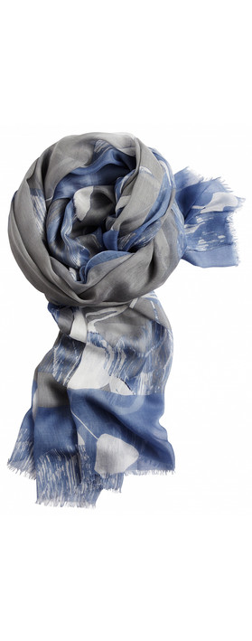 Sandwich Clothing Floral Print Woven Scarf Light Stone