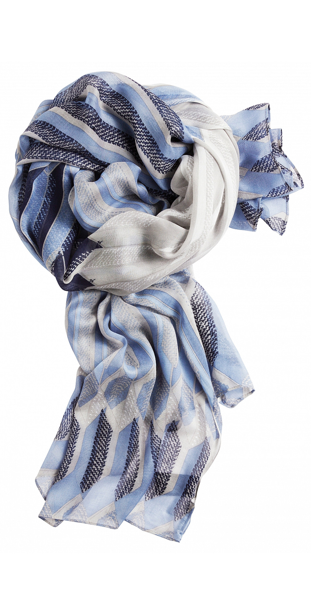 Abstract Geometric Print Scarf main image