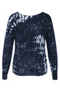 Sandwich Clothing Navy Abstract Printed Cotton Jumper