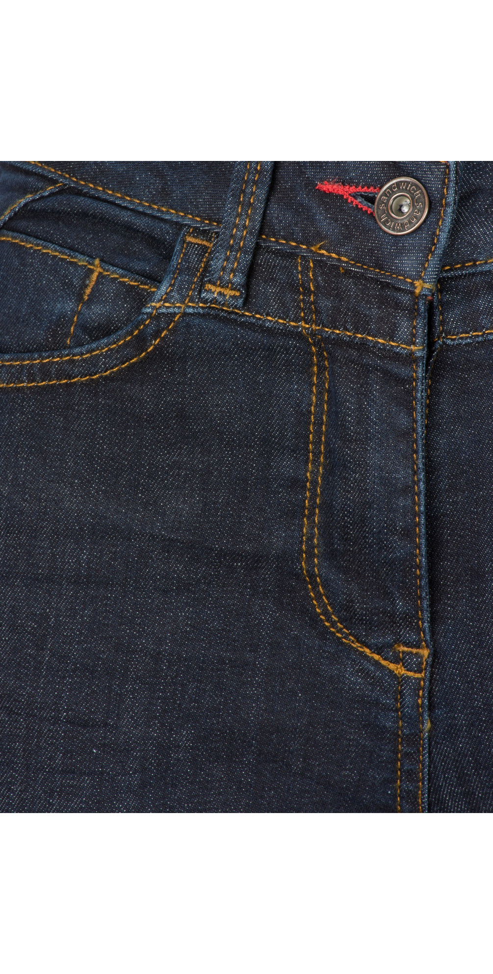 Denim Wash Casual Trousers main image