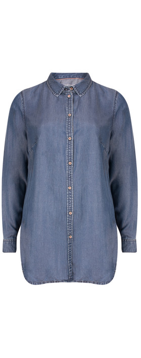 Sandwich Clothing Denim Wash Long Sleeve Blouse Blue Denim