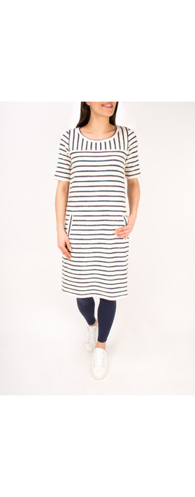 Sandwich Clothing Textured Stripe Jersey Dress Lily White