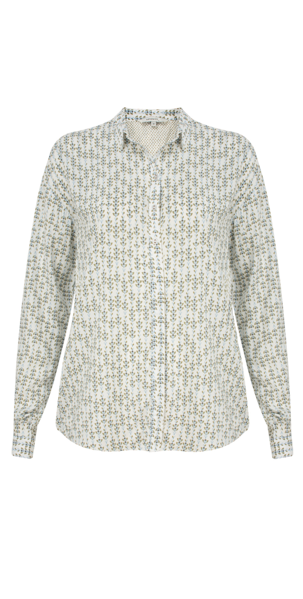 Lotus Woven Patterned Blouse main image