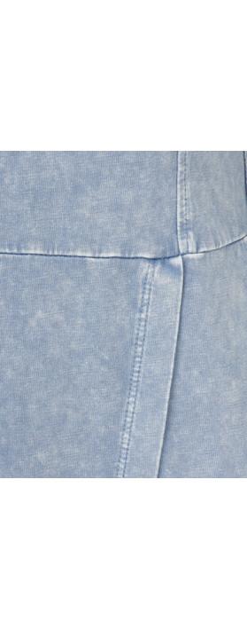Sandwich Clothing Long Sleeve Jersey Dress with Split Hem Detail Washed Blue