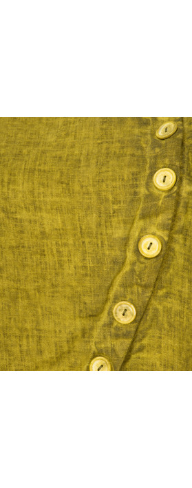 Grizas Oliato Linen Short Button Detail Jacket 329 Dirty Lime