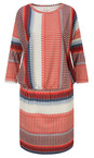 Striped Jersey Dress With Gathered Waist additional image