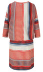 Sandwich Clothing True Red Striped Jersey Dress With Gathered Waist