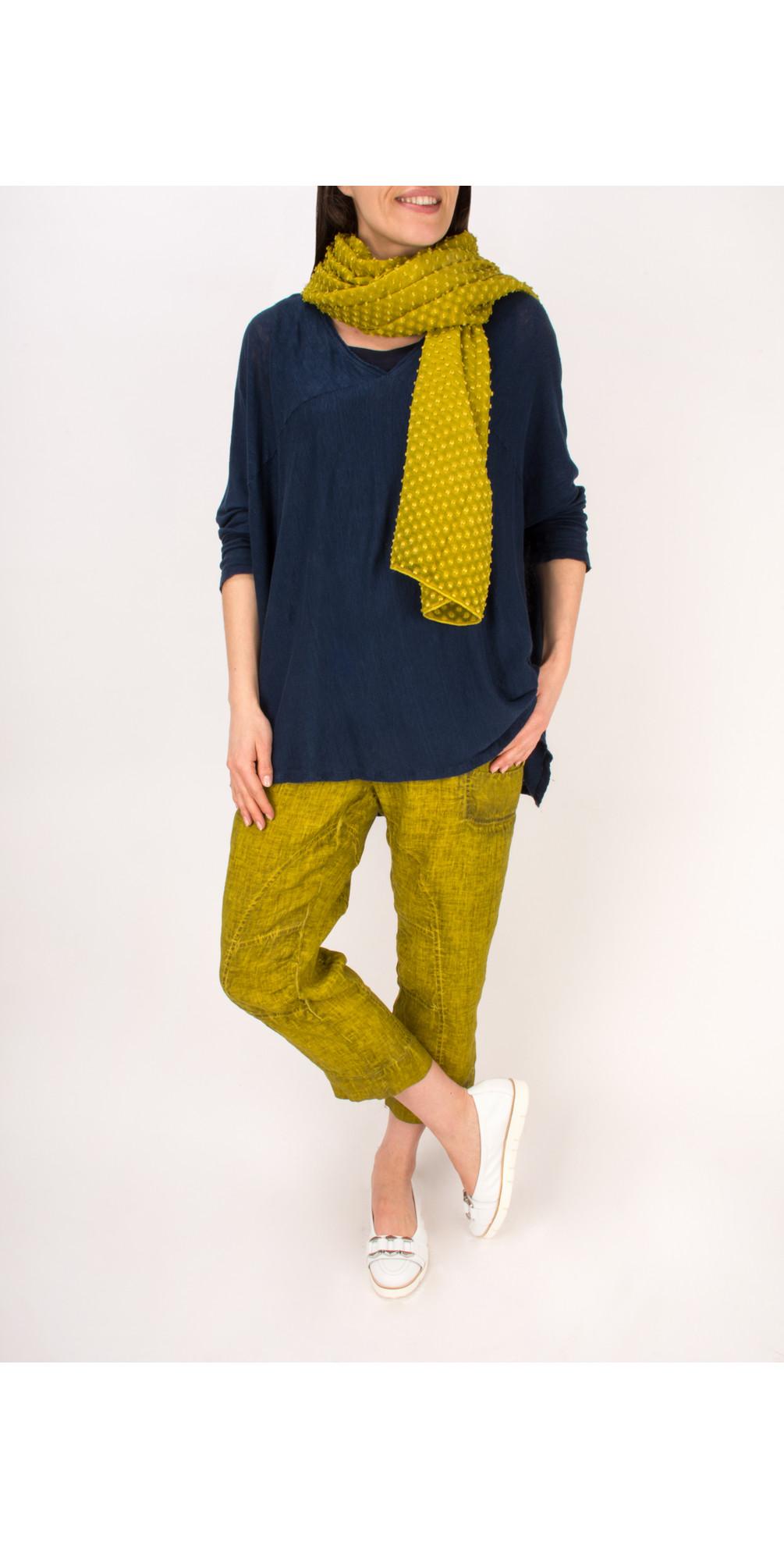 Linen Seam Detail Easyfit 7/8 Trouser main image