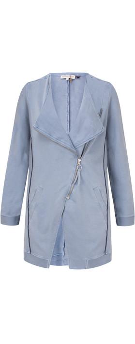 Sandwich Clothing Longline Long Sleeve Jacket Washed Blue
