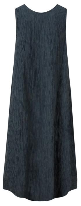 Grizas Silk Crinkle Long Dress 421 Navy