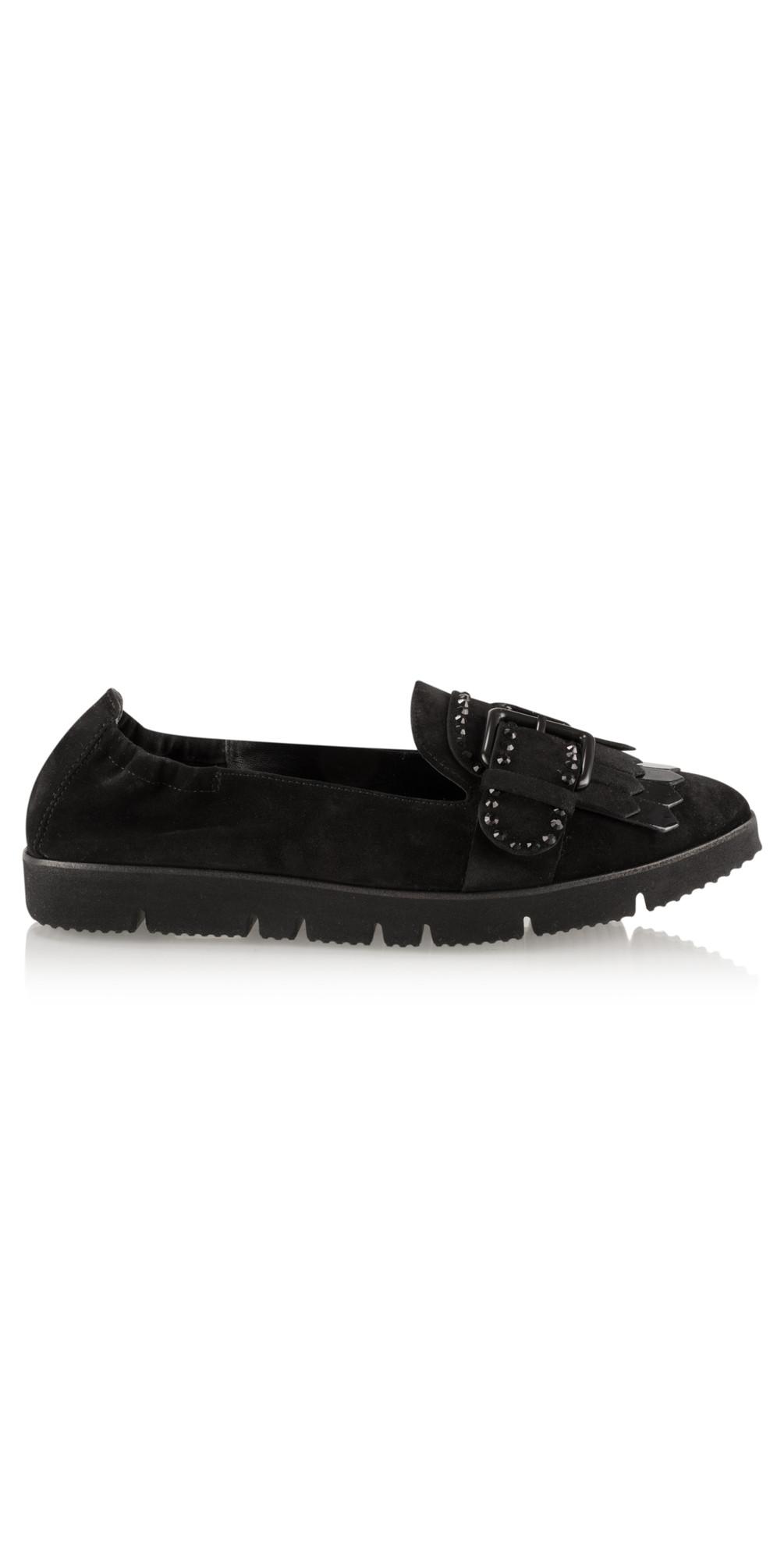 kennel und schmenger pia x buckle fringe shoe in schwarz. Black Bedroom Furniture Sets. Home Design Ideas