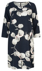 Sandwich Clothing Navy Circle Print Sleeved Dress