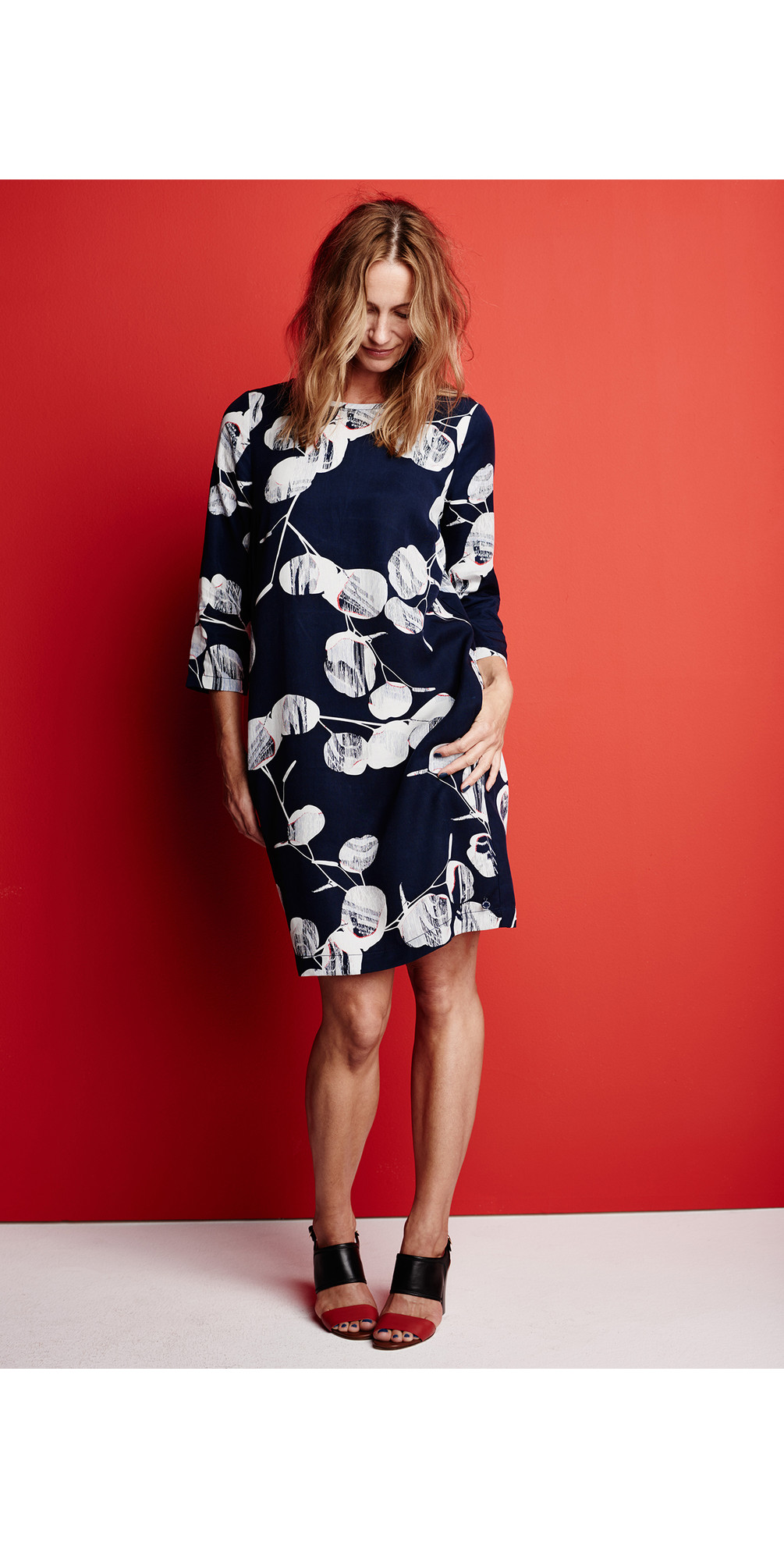 Circle Print Sleeved Dress main image