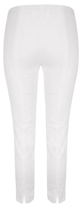 Robell Trousers Rose 09 Jacquard Slimfit 7/8 Trouser White