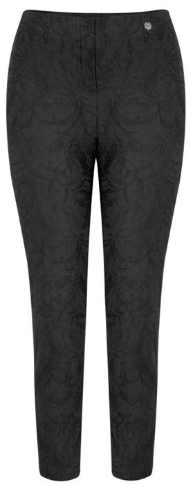 Robell Trousers Rose 09 Jacquard Slimfit 7/8 Trouser Black