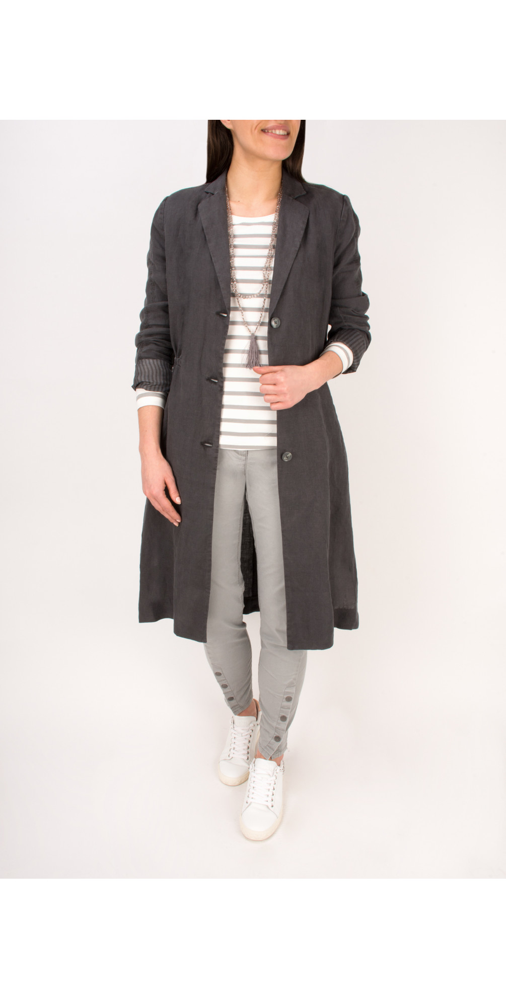 Essential Long Sleeve Striped Jersey Top main image