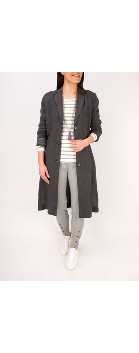 Sandwich Clothing Essential Long Sleeve Striped Jersey Top Light Stone