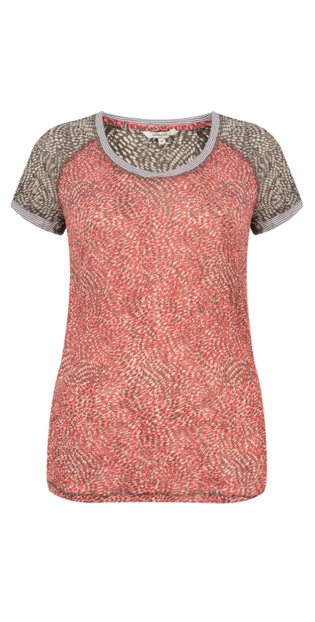 Dotted Print Short Sleeve Tshirt main image