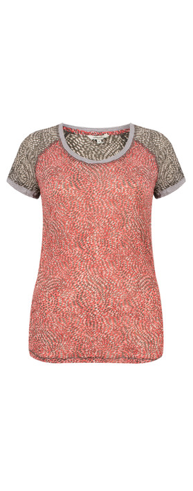 Sandwich Clothing Dotted Print Short Sleeve Tshirt Pink Rose