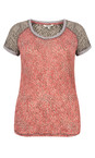Sandwich Clothing Pink Rose Dotted Print Short Sleeve Tshirt