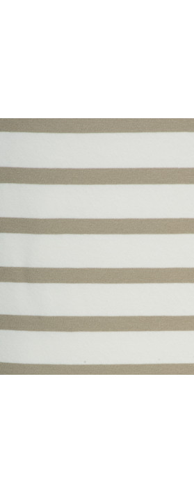 Sandwich Clothing Essentials Stretch Cotton Stripe Jersey Vest Pebble Sand