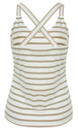 Sandwich Clothing Pebble Sand Essentials Stretch Cotton Stripe Jersey Vest