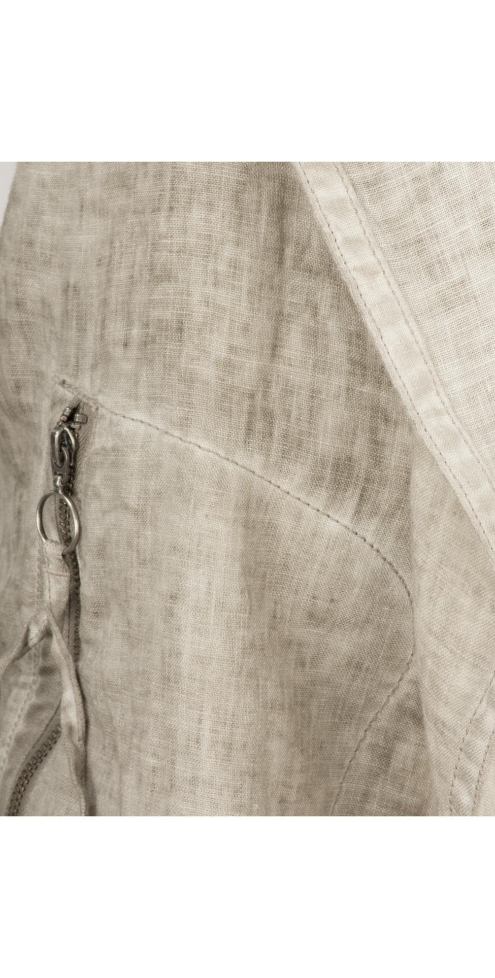 Longline Open Front Linen Jacket main image