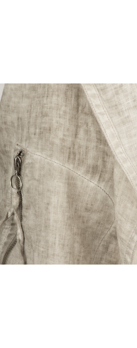 Sandwich Clothing Longline Open Front Linen Jacket Pebble Sand