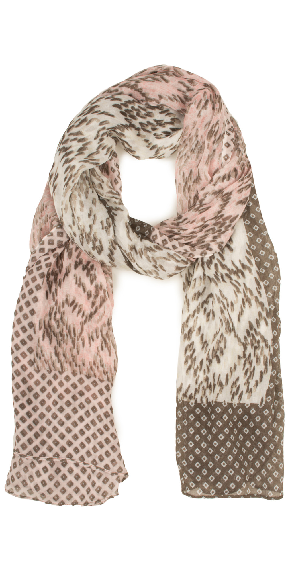 Soft & Easy Abstract Print Woven Scarf main image