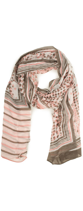 Sandwich Clothing Dot Print Scarf Blush
