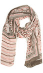 Sandwich Clothing Blush Dot Print Scarf