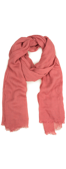 Sandwich Clothing Essential Crinkle Effect Scarf Pink Rose