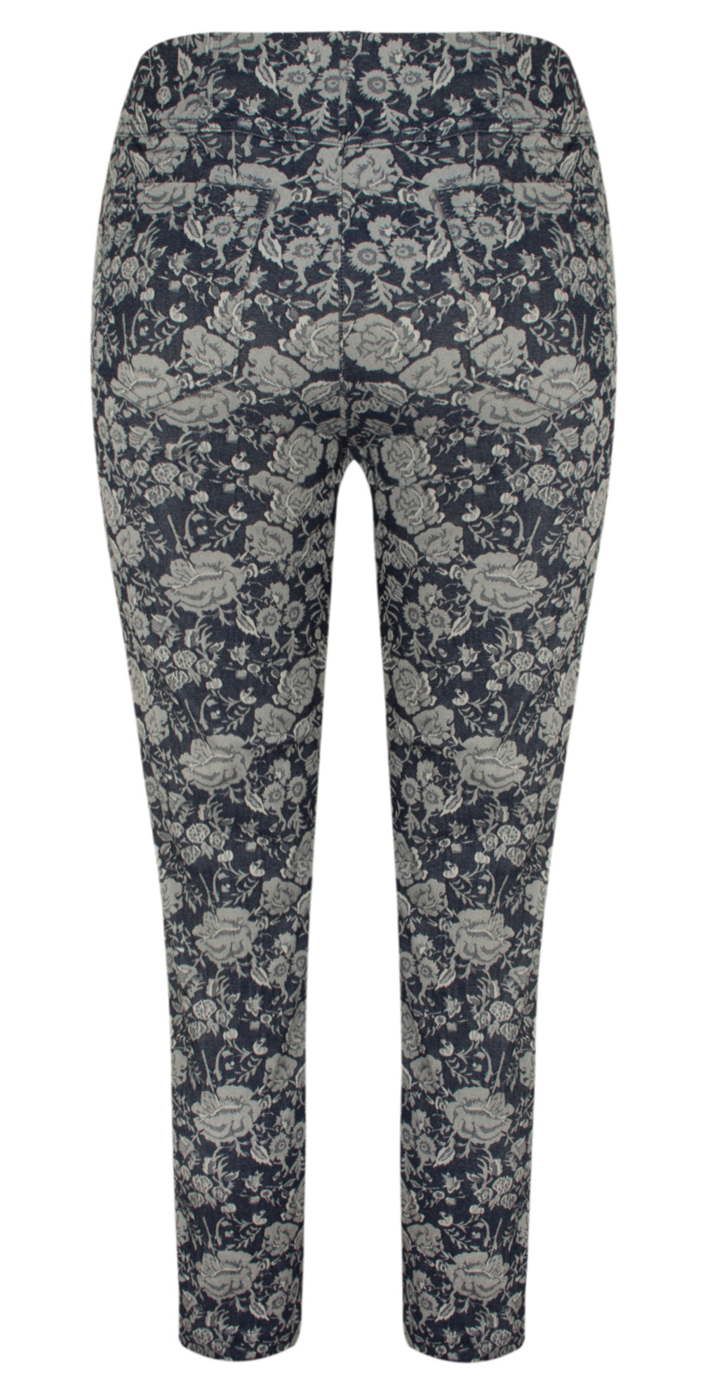 Bella 09 Rose Print 7/8 Cropped Trouser main image