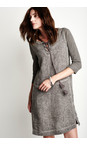 Sandwich Clothing Dark Wood Linen Tie Neck Dress