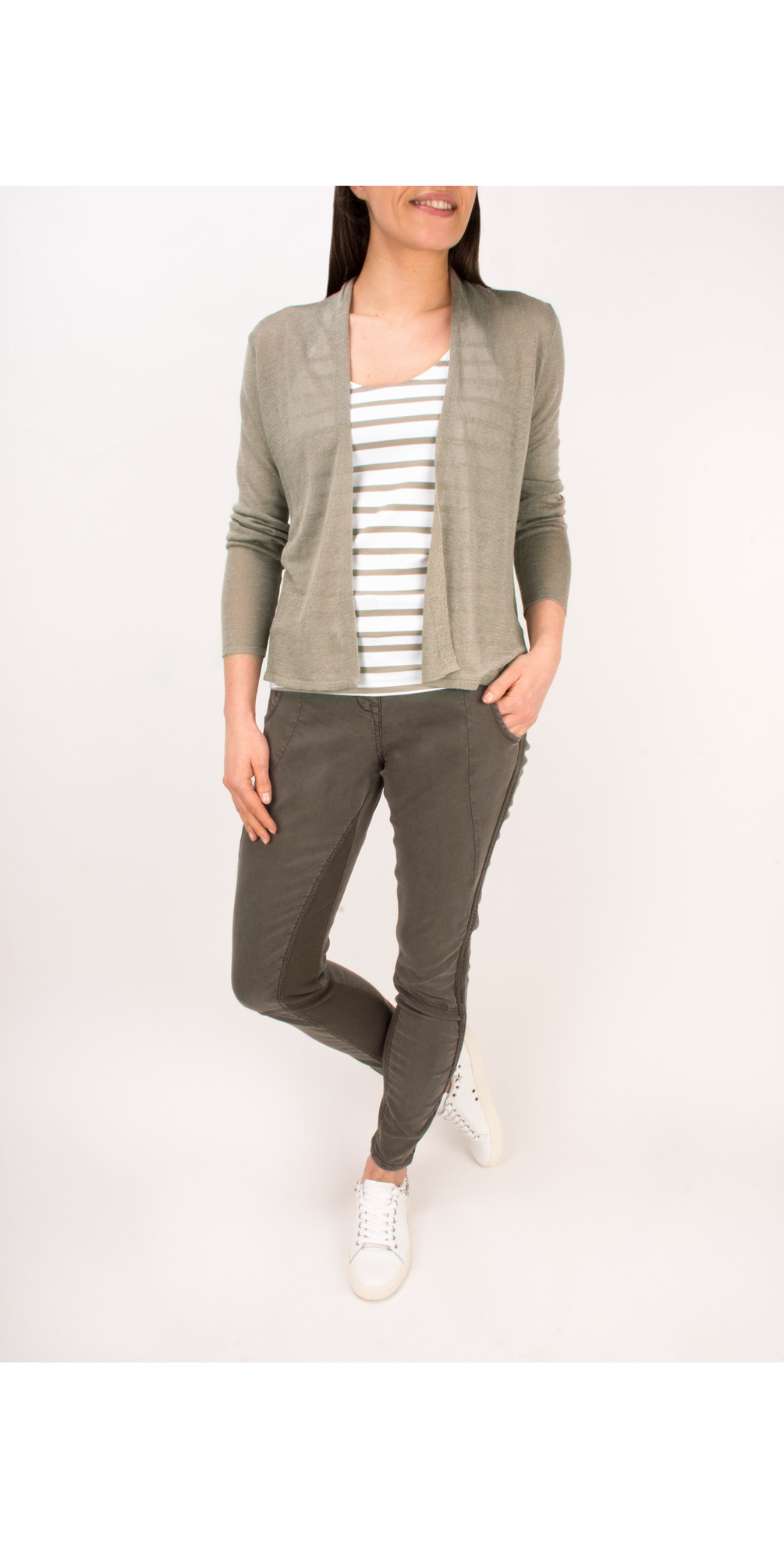 Essentials Stretch Cotton Stripe Jersey Vest main image