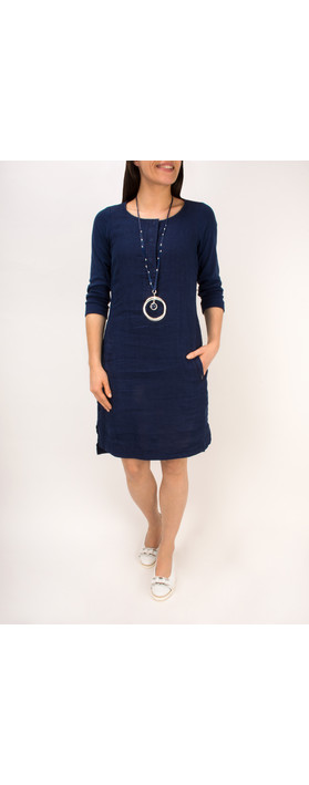 Sandwich Clothing Linen Jersey Dress Navy