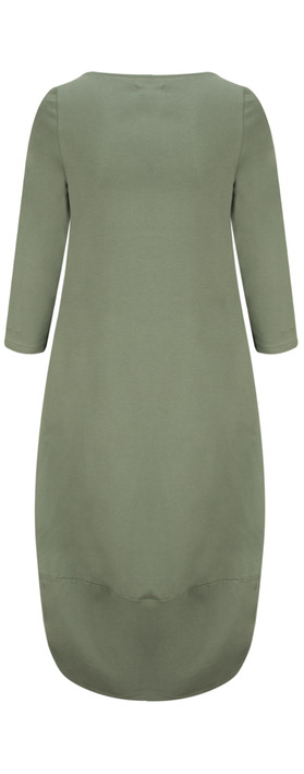 Mama B Dakota Corto Dress Salvia-dark sage green