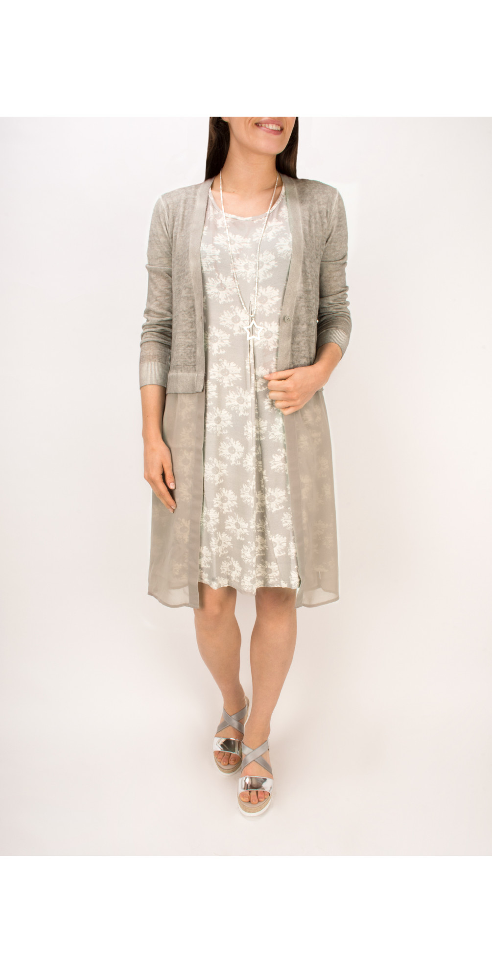 Long Sleeve Linen Longline Cardigan main image
