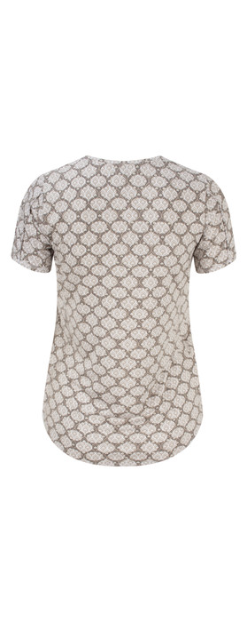 Sandwich Clothing Short Sleeve Printed Tshirt Pure White
