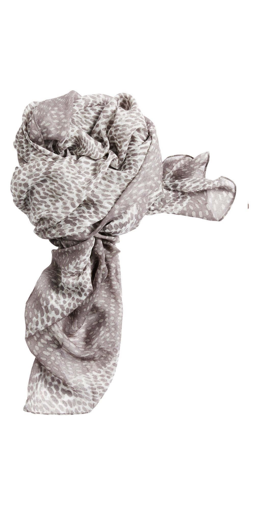 Dotted Print Two Tone Scarf main image