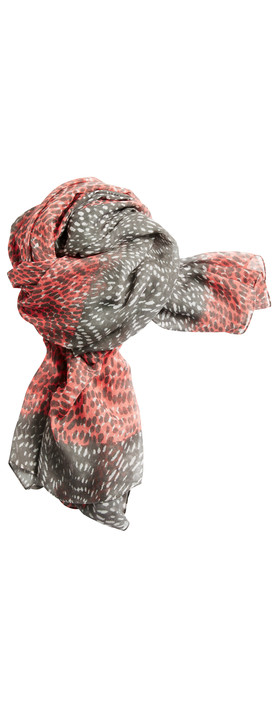 Sandwich Clothing Dotted Print Two Tone Scarf Pink Rose